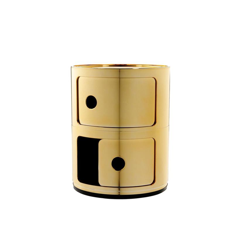 Meuble de rangement Kartell COMPONIBILI métallisé 2 portes