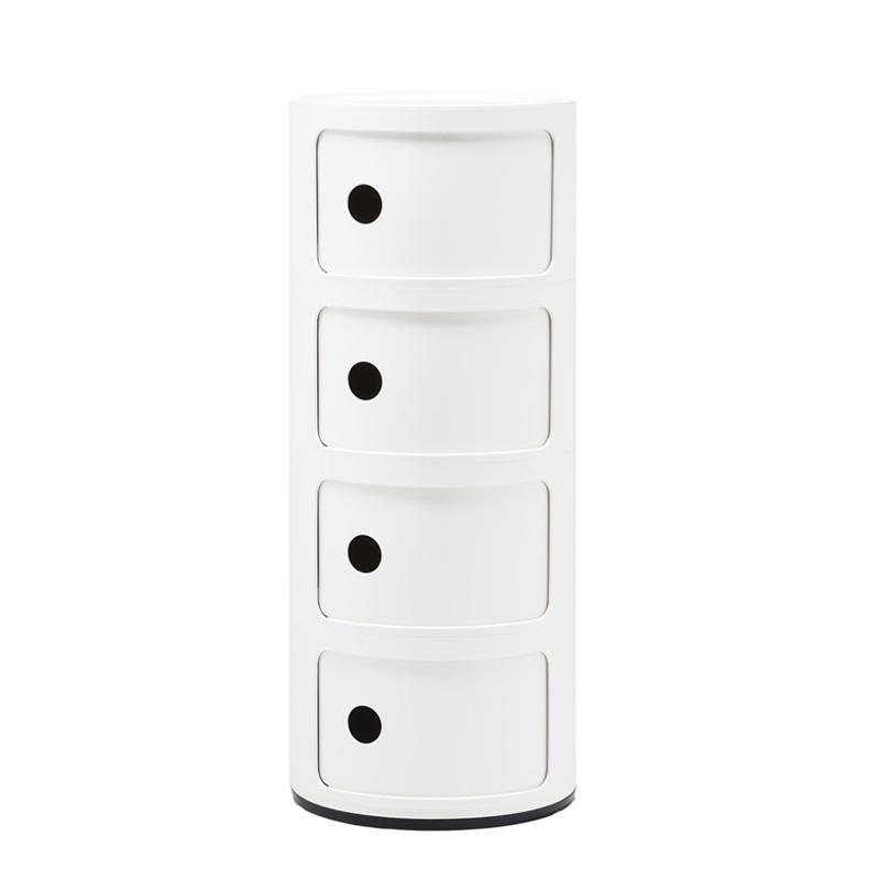 Componibili 4 tiroirs meuble de rangement kartell silvera for Meuble kartell