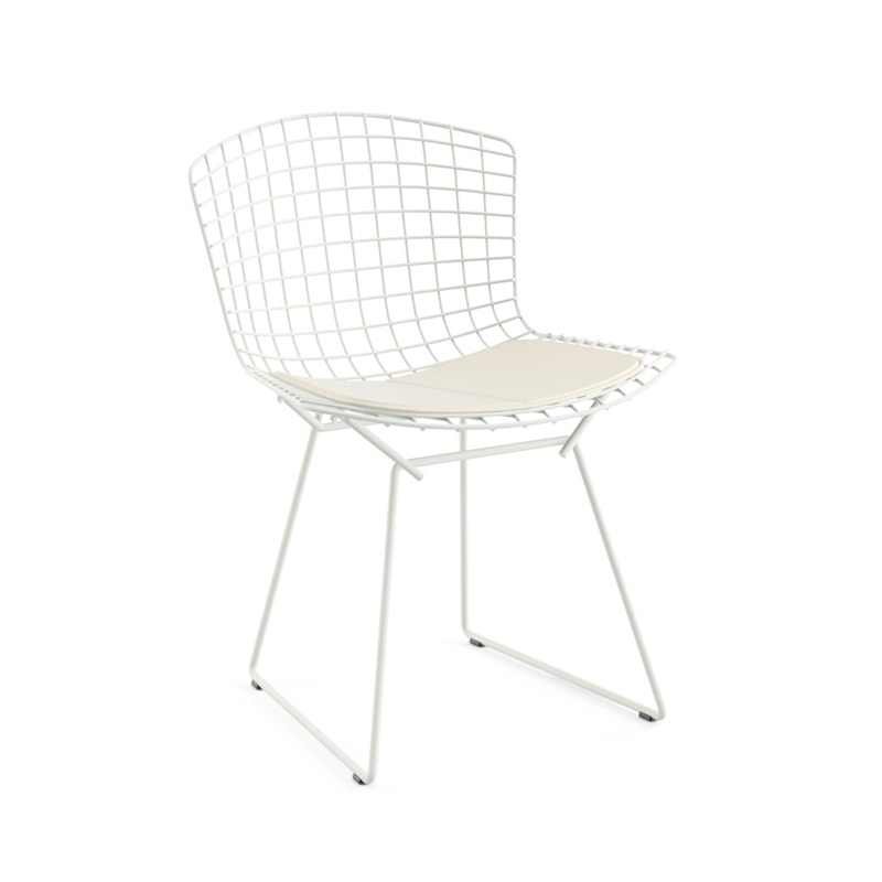Chaise Knoll BERTOIA OUTDOOR avec galette d'assise