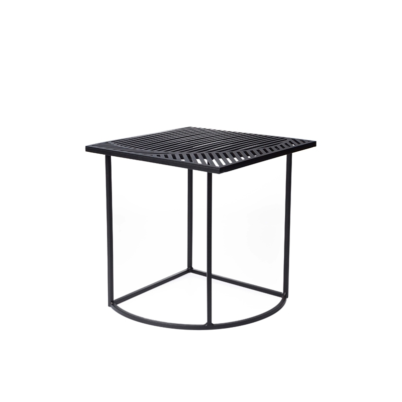 Iso b carr e table d 39 appoint gu ridon petite friture silvera - Table d appoint carree ...