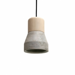 Suspension CEMENT WOOD LAMP Smoke SPECIMEN