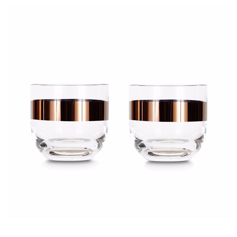 Carafe & verre Tom dixon Set de 2 verres à whisky TANK