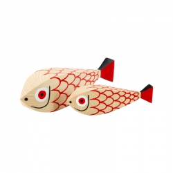 Objet insolite & décoratif WOODEN DOLL Mother Fish & Child VITRA