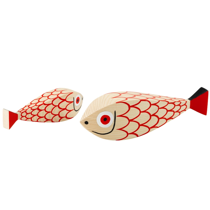 WOODEN DOLL MOTHER FISH & CHILD