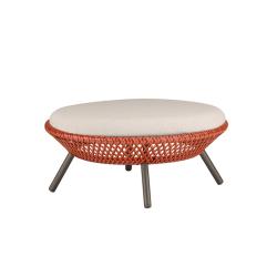 Pouf, tabouret et banc extérieur AHNDA repose-pieds/ table basse DEDON