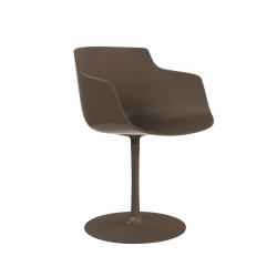 Petit Fauteuil FLOW SLIM COLOR pied central MDF