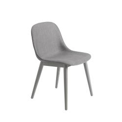 Chaise FIBER CHAIR pieds bois coque tissu MUUTO