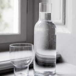 Carafe & verre Menu WATER BOTTLE