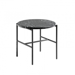 Table d'appoint guéridon REBAR Ø 45 marbre HAY