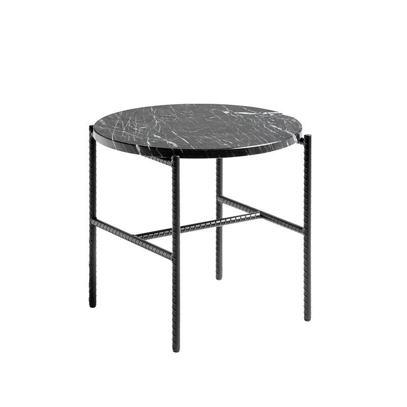 Table d'appoint guéridon Hay REBAR Ø 45 marbre