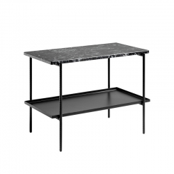 Table d'appoint guéridon REBAR 75x44 HAY
