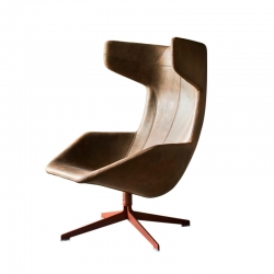 Fauteuil TAKE A LINE FOR A WALK cuir MOROSO