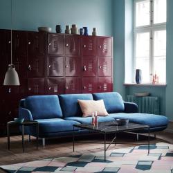 Canapé Fritz hansen LUNE 3 places avec chaise longue