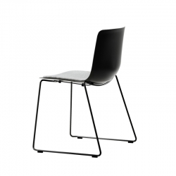 Chaise Fredericia PATO pieds luge/ assise rembourrée