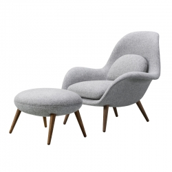 Fauteuil SWOON LOUNGE & OTTOMAN FREDERICIA
