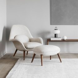 Fauteuil Fredericia SWOON LOUNGE & OTTOMAN