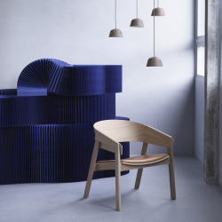 Fauteuil Muuto COVER LOUNGE assise tissu