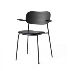 Chaise CO CHAIR avec accoudoirs assise cuir MENU