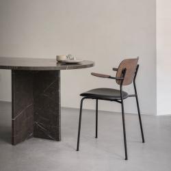 Chaise Menu CO CHAIR avec accoudoirs assise cuir
