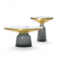 Table d'appoint guéridon Classicon BELL SIDE Marbre