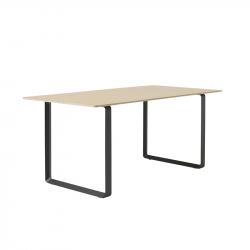 Table Muuto 70/70 Chêne contreplaqué