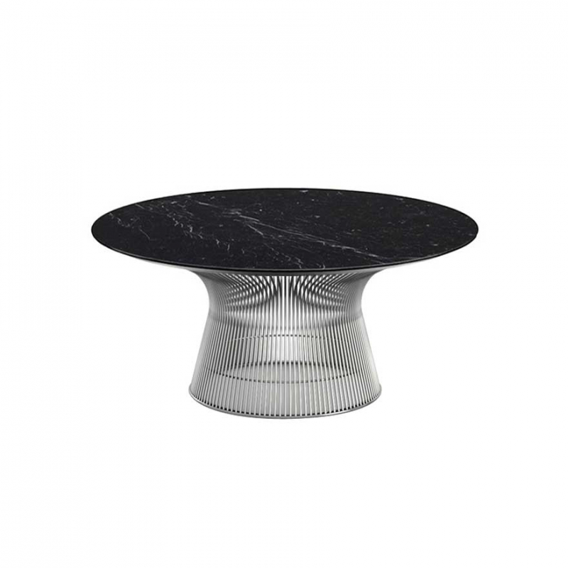 Table basse Knoll PLATNER Ø 91,5 Marbre