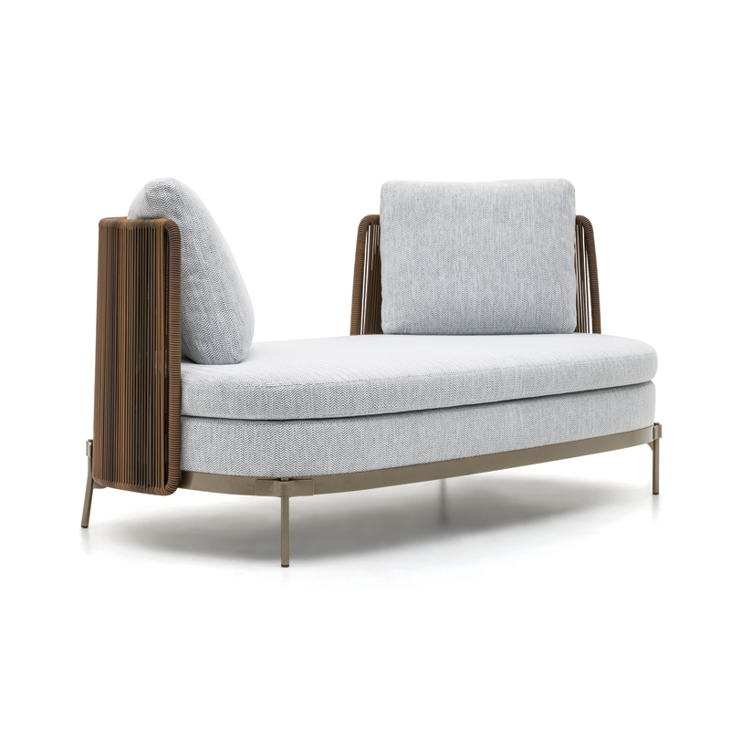Canapé Minotti TAPE CORD OUTDOOR Ouvert