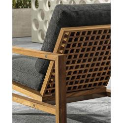 Chaise et petit fauteuil extérieur Minotti QUADRADO