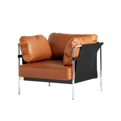 Fauteuil CAN 1 place cuir HAY