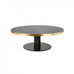 Table basse Gubi 2.0 COFFEE verre