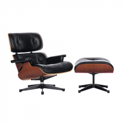 Fauteuil LOUNGE & OTTOMAN Palissandre VITRA