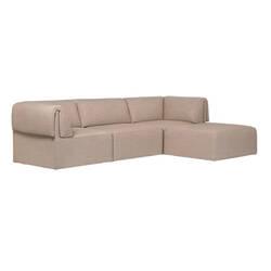 Canapé Gubi WONDER 3 places avec chaise longue