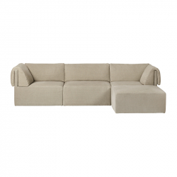 Canapé WONDER 3 places avec chaise longue GUBI