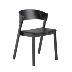 Chaise COVER SIDE CHAIR assise cuir MUUTO