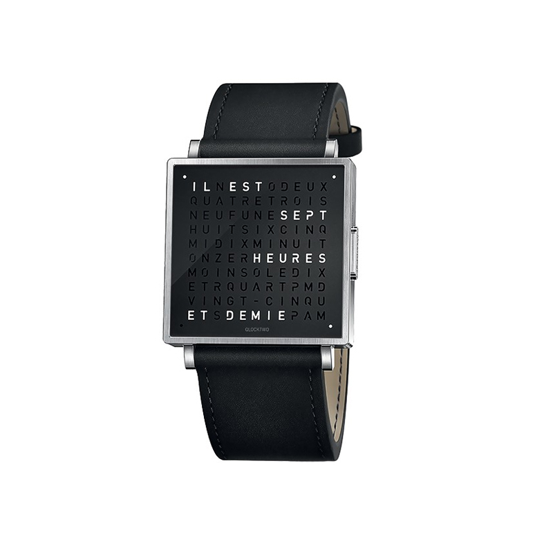 Horloge Qlocktwo Montre QLOCKTWO W Pure Black