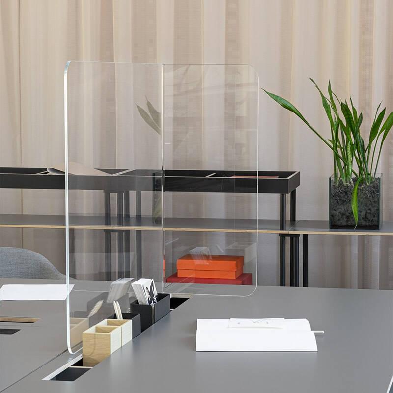 Accessoire de bureau Bene Ecran de protection SHIELDED (Set de 4 pièces)