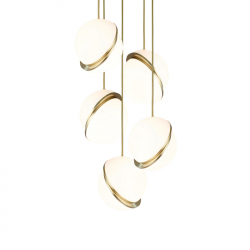 Suspension MINI CRESCENT CHANDELIER 5 PIECES LEE BROOM