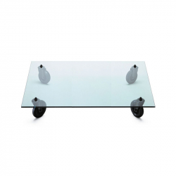 Table basse TAVOLO CON RUOTE Rectangulaire FONTANA ARTE