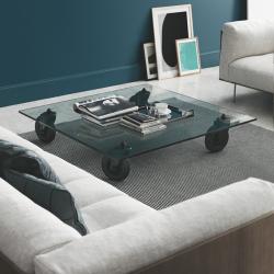Table basse Fontana arte TAVOLO CON RUOTE Rectangulaire