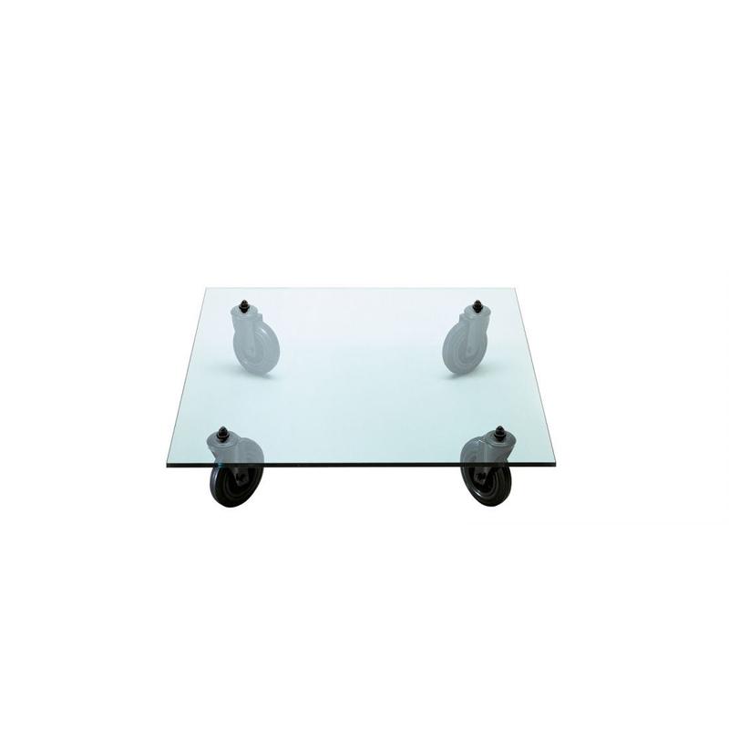 Table basse Fontana arte TAVOLO CON RUOTE Carrée