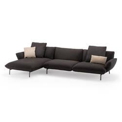 Canapé DOVE L 345 avec chaise longue ZANOTTA