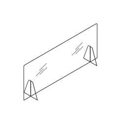 Accessoire de bureau Ecran de protection SAFE base méthacrylate SILVERA PRO