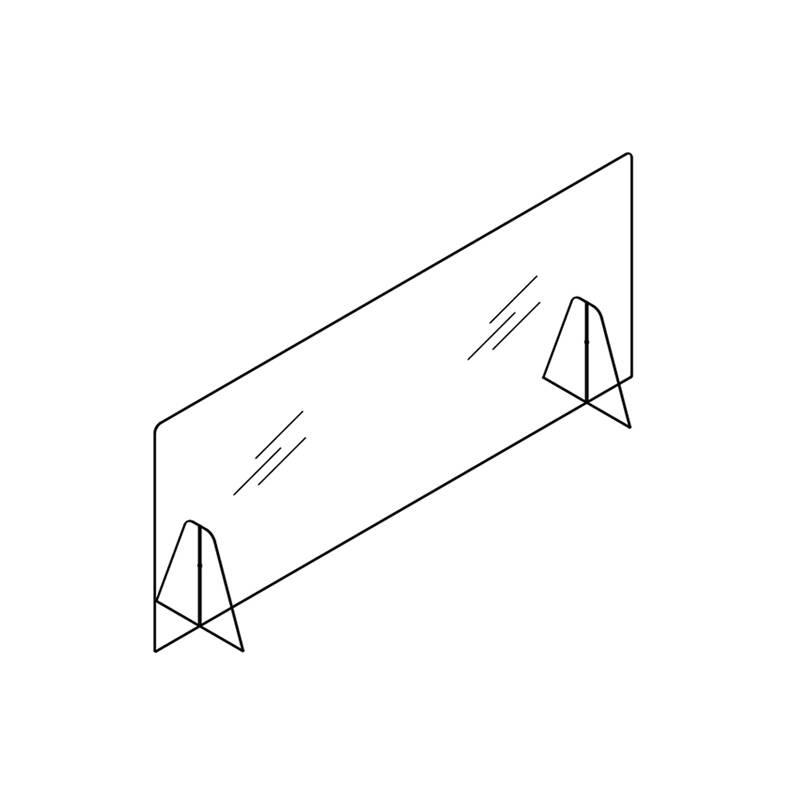 Accessoire de bureau Silvera pro Ecran de protection SAFE base méthacrylate
