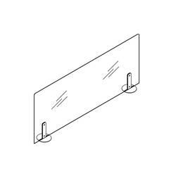 Accessoire de bureau Ecran de protection SAFE base métal SILVERA PRO