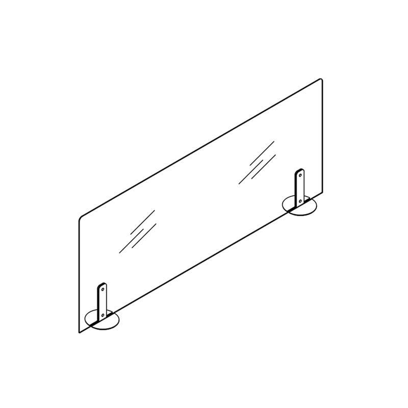 Accessoire de bureau Silvera pro Ecran de protection SAFE base métal