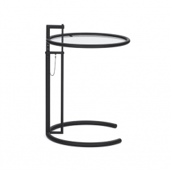 Table d'appoint guéridon ADJUSTABLE TABLE E1027 Noire CLASSICON