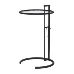 Table d'appoint guéridon Classicon ADJUSTABLE TABLE E1027 Noire