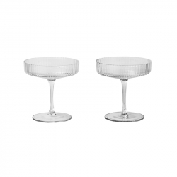Carafe & verre Set de 2 coupes à Champagne RIPPLE FERM LIVING