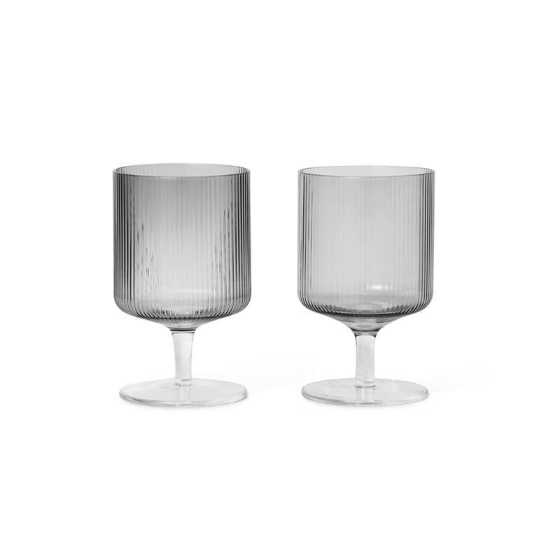 Carafe & verre Ferm living Set de 2 verres à vin RIPPLE