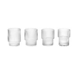 Carafe & verre Set de 4 verres RIPPLE FERM LIVING